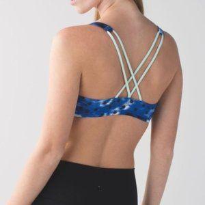 Lululemon Free To Be Sports Bra in Windy Blooms Sapphire Blue Multi 6